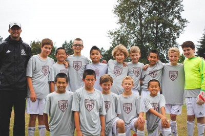 Mercer Island FC's U12 soccer team, a few days before departing for Dalian, China late last month. (Photo by Kamna Shastri)