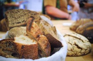 Bread prepared for a workshop at The Grain Gathering. (Photo by Anna Goren)