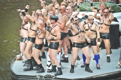 A scene from the 2008 gay pride parade in Amsterdam. (Photo from Flickr by FaceMePLS)