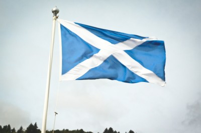 The regional flag of Scotland for centuries, St. Andrew's Cross could soon be the flag of the world's newest independent nation. (Photo from Wikipedia)