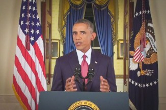 President Obama delivers a speech from the White House announcing an expanded military campaign against ISIS.
