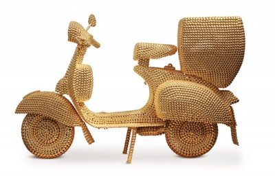 """""""Scooter,"""" 2007 by Valay Shende, from the collection of Sanjay Parthasarathay and Malini Balakrishnan. © Valay Shende."""