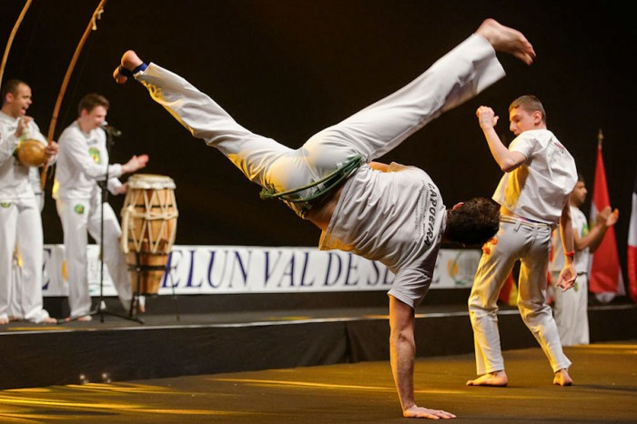 A capoeira demonstration by the group Senzala Evry in Dammarie-les-lys, France last year. (Photo by Marie-Lan Nguyen)