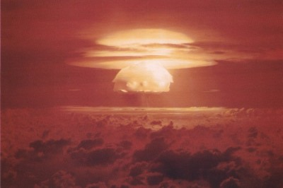 Mushroom cloud from the largest nuclear test the United States ever conducted, in 1954 on the Bikini Atoll, part of the Marshall Islands. (Photo via U.S. Dept. of Energy)