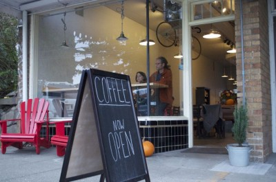 Ventoux Roasters and Hart Coffee Roastery opened on Oct. 9th, with a warm welcome from the Bryant neighborhood. (Photo by Janelle Retka)