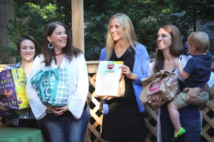 """Gina VanLoon (far left) with her Kirkland neighbors who participated in the """"Food Too Good To Waste"""" food audit program. (Photo courtesy King County)"""