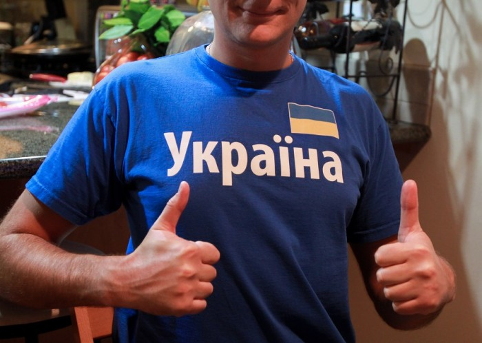 Pedchenko's T-shirt is just one example of the Ukrainian community's unprecedented desire to show off their heritage. (Photo by Kseniya Sovenko)