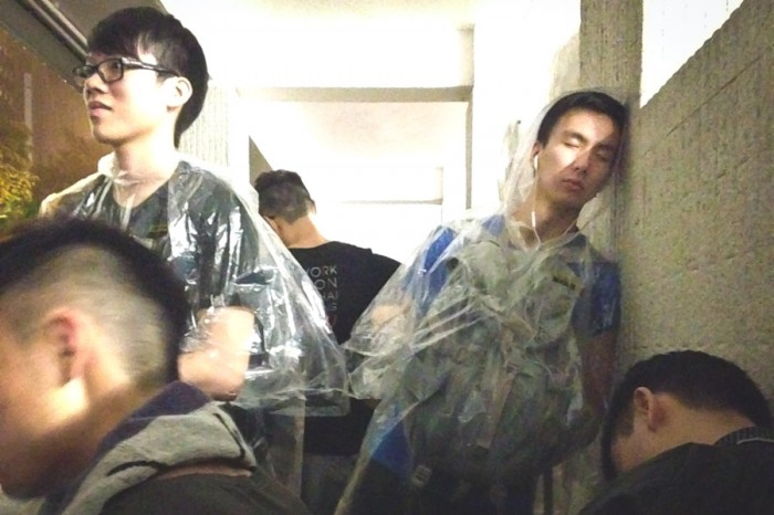 Exhausted protesters rest after days of occupying central Hong Kong. (Photo by Yue Ching Yeung)