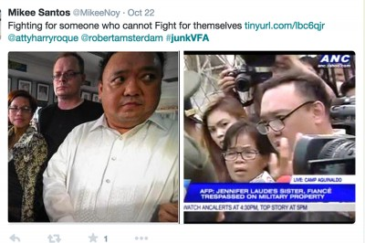 Jennifer's family members seek justice, as tweeted from the #JusticeforJenniferLaude and #JunkVFA campaigns.