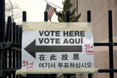 Voting sign. (Photo from Flickr)