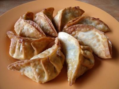 Chinese fried dumplings. (Photo via Wikipedia)