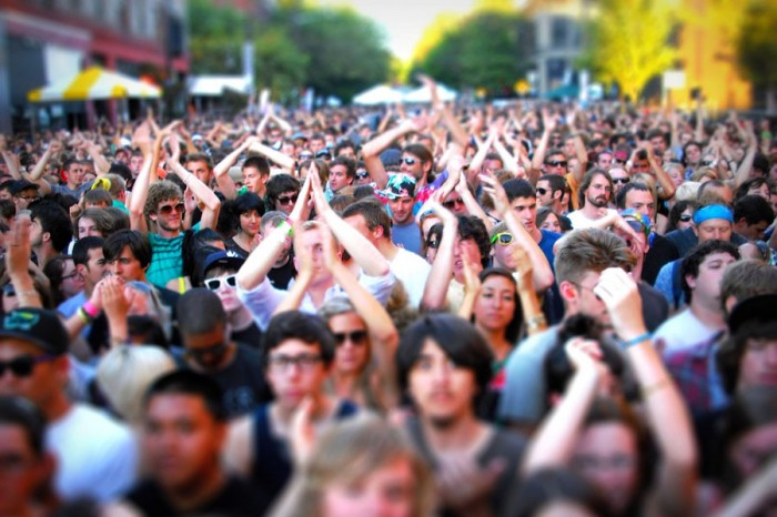 The sea of white at the Capitol Hill Block Party. (Photo by Bjørn Giesenbauer)