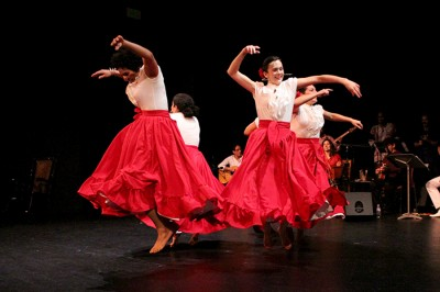 Dancers perform a traditional Peruvian number last December at Langston Hughes Performing Arts Institute. (Photo by Aida Solomon)