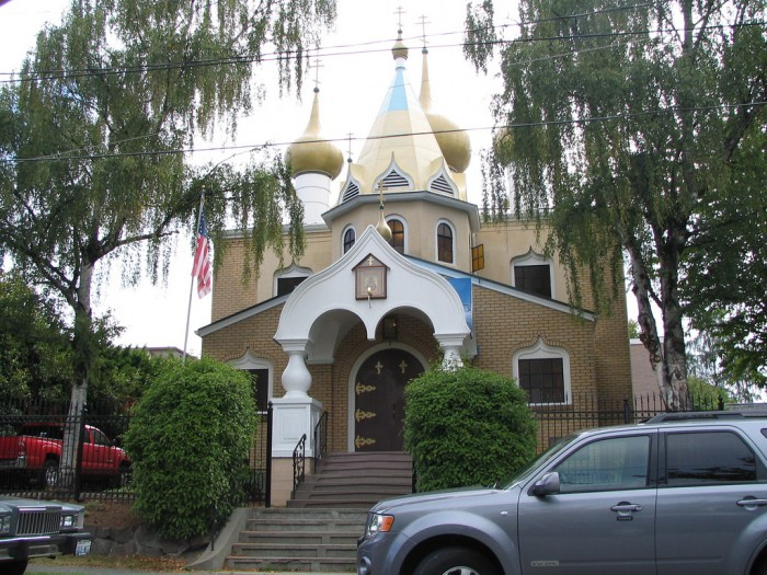 Saint Nicholas Russian Orthodox Church in Seattle. (Photo by Jim Kelly, used with Creative Commons license.)