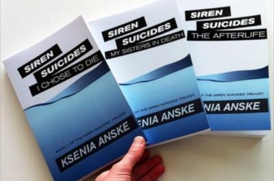 Anske's first books follow the supernatural story of a suicidal teenager. (Courtesy Ksenia Anske)