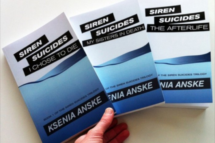 Anske's first books follow the supernatural story of a suicidal teenager. (Courtesy Ksenia Anske)