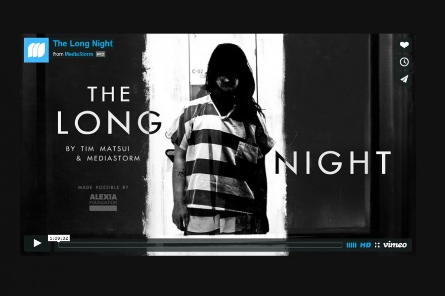 Screen capture of the documentary online at http://www.thelongnightmovie.com