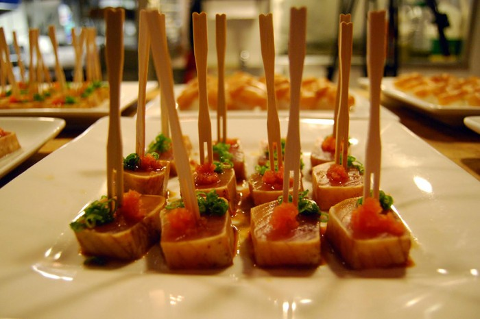 Sustainable albacore tuna appetizers, courtesy of Sushi Kappo Tamura. (Photo by Ana Sofia Knauf)