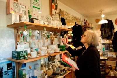 Developing relationships abroad is what Eveline Murray does best. Galway Traders imports have been researched by Murray since the store's opening. (Photo by Lindsey Boisvin)