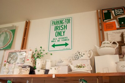 """""""A lot of the Irish stores — and I've been in a lot of Irish stores — an awful lot of them would be selling trinkets, if you will. The Galway Traders is just so authentic. What you get in there is genuine Irish goods,"""" John Keane, treasurer of the Irish Heritage Club, said. (Photo by Lindsey Boisvin)"""