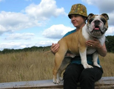 Before she was disappeared, Molly Norris could be seen around Seattle walking her English Bulldog (Photo courtesy of Shannon Perry)