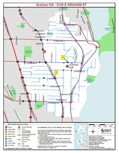 School bus cuts Seattle Graham Hill Map