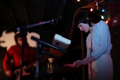 Molly Norris would film nearly every one of KHV's live shows , the duo performed at least once or twice per month (Photo courtesy of Shannon Perry)