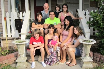 My mixed family in Texas, with myself left center. (Photo courtesy of Myrna Kastor)