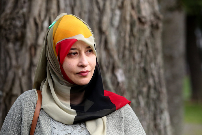 Zahra Abidi is program director at an Islamic center and mosque that received an emailed bomb threat in 2012. (Greg Gilbert / The Seattle Times)
