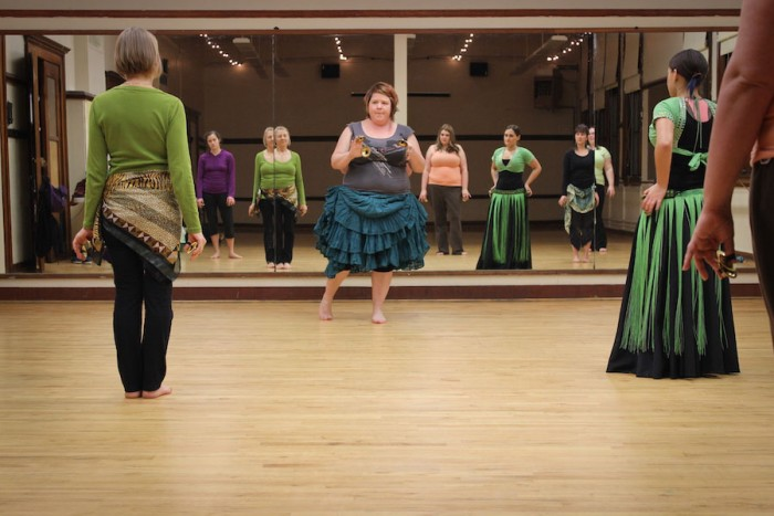Shay Moore teaches American Tribal Style belly dance at the Phinney Neighborhood Center. (Photo by Dominique Etzel)