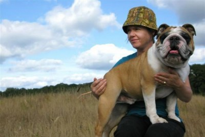 Before she disappeared, Molly Norris could be seen around Seattle walking her English Bulldog (Photo courtesy of Shannon Perry)