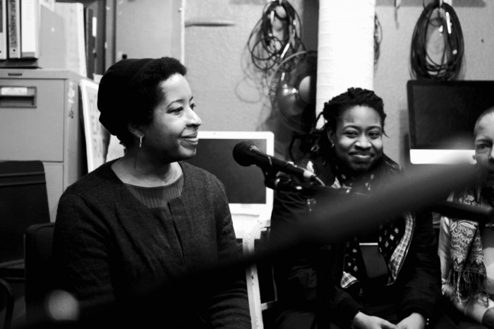 Radio show guests Zola Mumford and Laura Haldane talk about 'Relationship to Ideas' on #LuluNation + #SadBoisHypeClub, on December 30th. (Photo by V. Nguyen http://fluxhzard.virb.com/)