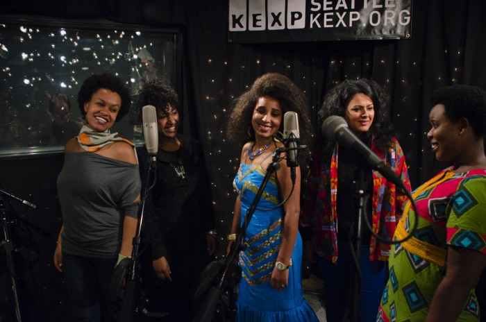 The Nile Project performs for KEXP's 'Immigrant Project.' (Photo by Eric Gonzalez Alfaro, courtesy KEXP.)