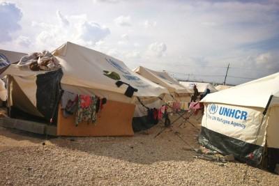 Tents in Zaatari refugee camp in Jordan. (Photo courtesy of Bashar Kabor)