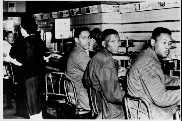 The 1960 sit-in at a whites-only lunch counter in Greensboro, NC is often cited as the beginning of the civil rights movement. At the time many white Greensboro residents considered themselves racially progressive. (Photo from Library of Congress)