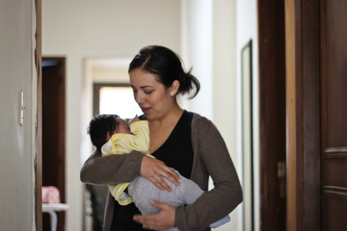 Nelly Lozano, with her seven-month-old son Elian, gave up a secure, professional job in the U.S. to return to Mexico City and never looked back. (Photo by Alysa Hullett)