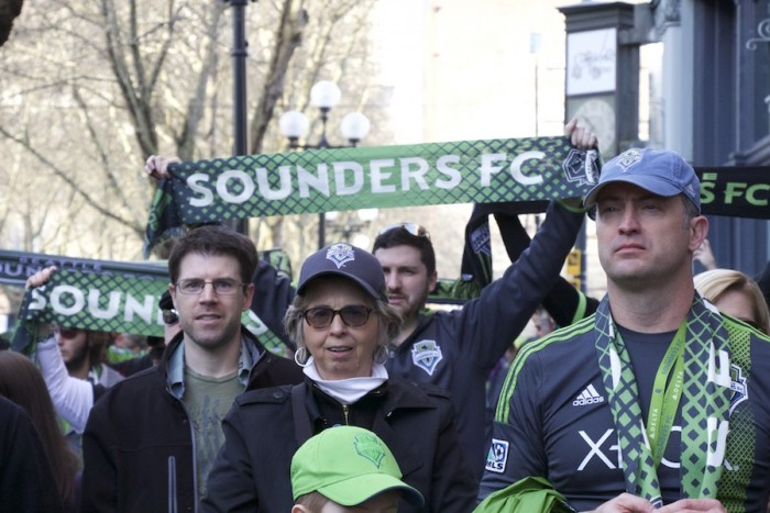 Key #1 to being a Sounders fan: Have a scarf. (Photo by Justice Magraw)