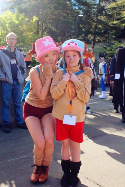 Sun met another Tony Tony Chopper of One Piece at a convention. (Photo courtesy of Martina Sun)