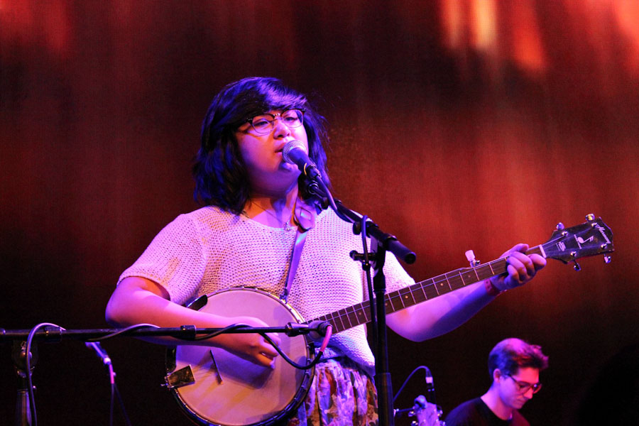 Emma Lee Toyoda performs at the EMP. (Photo by Alia Marsha)