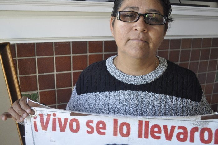 Blanca Luz Nava Vélez is the mother of Jorge Alvarez Nava, a 19-year-old who had just begun teaching school in Ayotzinapa when he went missing in September. (Photo by Janelle Retka)