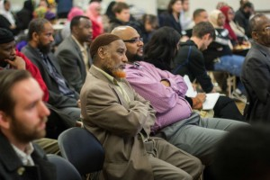 Somali-Americans gather to discuss the issue of Somali remittances at the New Holly gathering hall yesterday, April 31st. (Photo by Jama Abdirahman / The Seattle Globalist)
