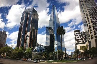 The shining skyscrapers in Mexico City are home to the Mexican Stock Exchange, which has seen steady growth since a crash in 2008. (Photo by Alex Stonehill)