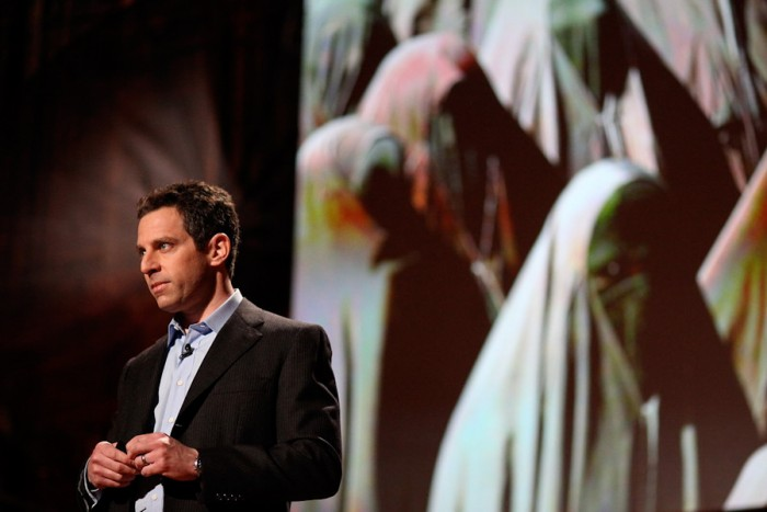 Philosopher and neuroscientist Sam Harris, seen here presenting at a TED conference in 2010, is one of America's most outspoken critics of religion. (Photo by Steve Jurvetson)