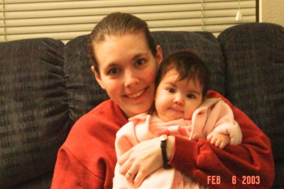 Krystal Loverin and 3-month-old Erika in 2002, when Loverin got her orders to deploy. (Photo courtesy of Krystal Loverin)