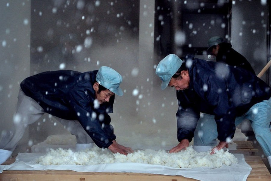 "The Birth of Sake"" focuses on Yoshida Brewery, where the ancient, almost ritualistic process of brewing sake remains the same after 2,000 years. Photo courtesy SIFF."