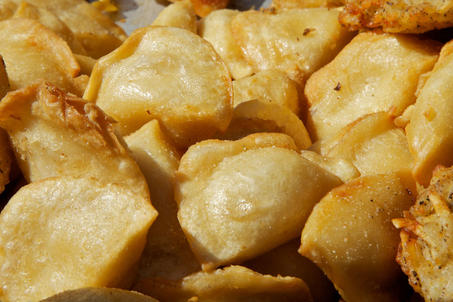 Perogis — Eastern European style boiled dumplings filled with anything your heart desired. (Photo from Flickr by Joey Lax-Salinas)