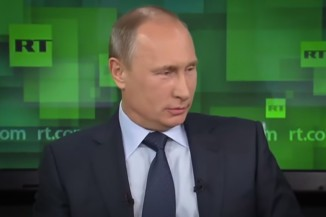 Vladimir Putin on a 2013 RT broadcast.