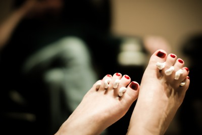 A relaxing visit to the nail spa can often mean coming into contact with toxic chemicals -- though some Seattle nail salons have found greener alternatives. (Photo from Flickr by Sam Breach)