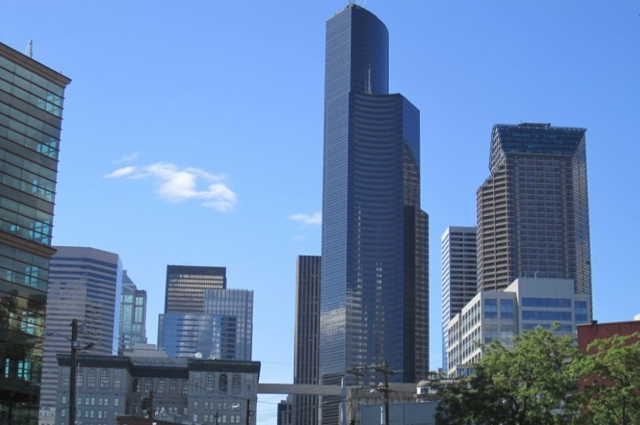 Columbia Center, as seen from the International District. (Photo by SounderBruce via Flickr.)