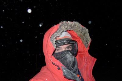 Nasko Abadjiev in gear built to withstand nighttime temperatures of 75 below. (Courtesy photo)